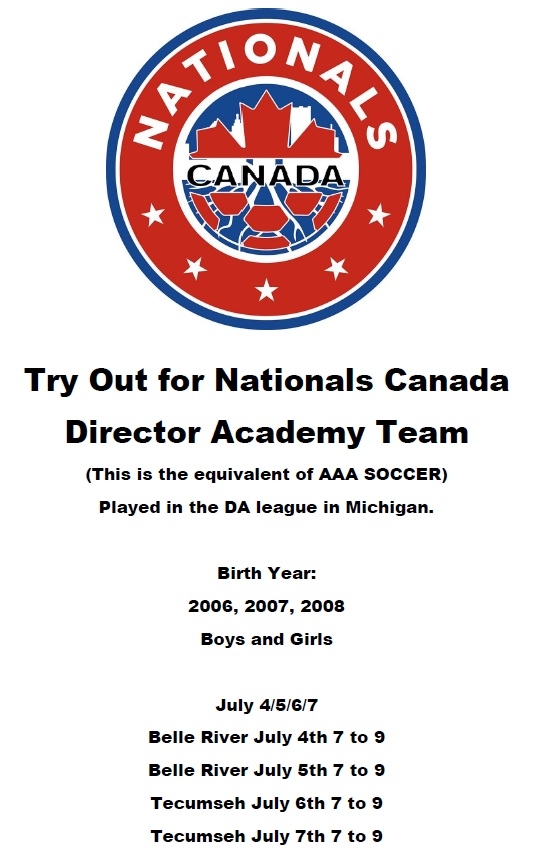 Nationals tryout